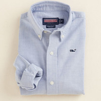 Boys Solid Oxford Whale Shirt