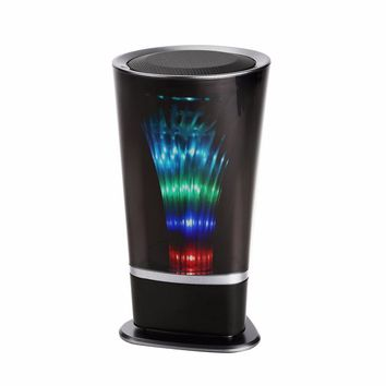 New  Monica popular Cup Bluetooth Speaker Colorful Light nightlight Portable handsfree Radio FM woofer Altavoz portatil