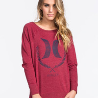 Hurley Switchbone Womens Sweatshirt Maroon  In Sizes