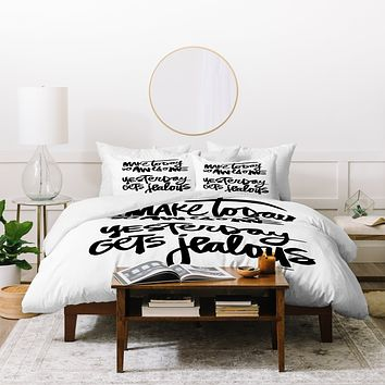 Kal Barteski MAKE TODAY SO AWESOME Duvet Cover