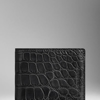 Textured Alligator Leather Wallet