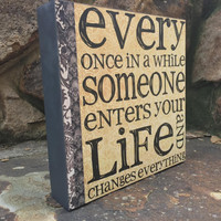 Someone Special Wood Shadow Box Sign