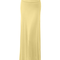 LE3NO Womens Floor Length Maxi Skirt With Stretch (CLEARANCE)