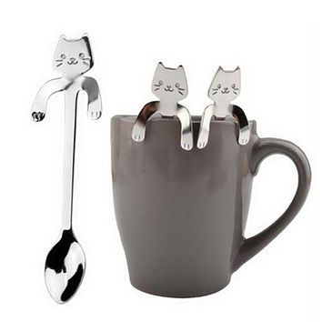 Imixlot 1Pc Cute Cat Coffee Props Kitchen Restaurant Tableware Set Dinner Reusable Gift For Kitchens Accessories