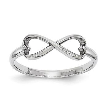 Sterling Silver Infinity Heart Ring