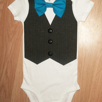 Baby boy coming home outfit Newborn coming home 1st birthday boy Newborn boy coming home outfit Baby boy take home outfit Suit fabric  vest