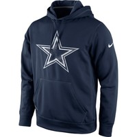 Dallas Cowboys Nike Warp Performance Pullover Hoodie – Navy Blue