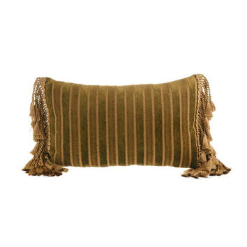 Canaan Company P-730-M 14x22 Bullion Accent Pillow with Tassel Ends