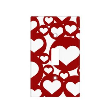 Cute Red Hearts Pattern Light Switch Covers
