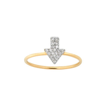 Diamond Superfine Arrow Ring, 9ct Gold, .13ct Diamond - KWD31_9Y - All Jewellery | Karen Walker