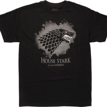 Game Of Thrones HOUSE STARK DIREWOLF SIGIL LOGO T-Shirt NWT Licensed & Official