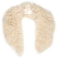 CREAM MONGOLIAN FUR COLLAR