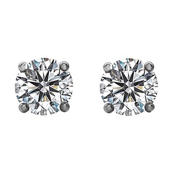 2.00tcw Round Diamonds in 14K White Gold Solitaire Stud Earrings 247808d000