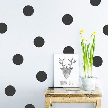 Polka Dot Wall Stickers Removable Decal Pattern Spots Circle Nursery Decor