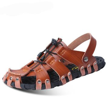 Leather Men Sandals Or Beach Slippers
