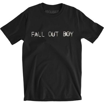 Fall Out Boy Men's  Mania Wave Slim Fit T-shirt Black