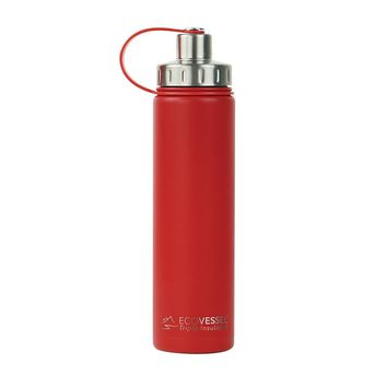 THE BOULDER - Insulated Stainless Steel Water Bottle w/ Strainer - 24oz