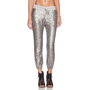 Silver Sequined Pants