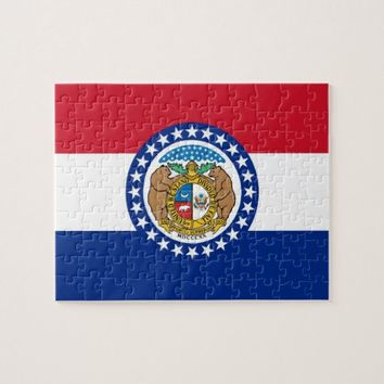 Puzzle with Flag of Missouri State