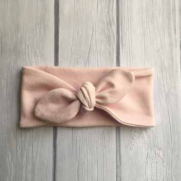 Pink headband, knot headband, organic headband, baby headband, photo prop, baby photo prop, newborn photo prop, accessories