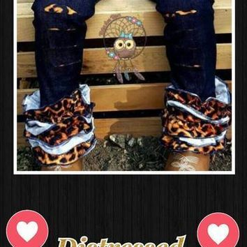 RTS- Distressed Leopard Icings EXTRAS!! Limited sizes!! D-47