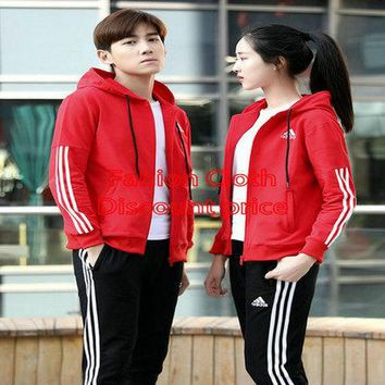 Adidas Lovers Suit AK Red M-4XL 2018 Adidas Spring Lovers Clothes