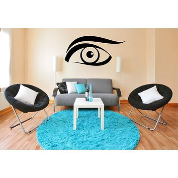 Large Vinyl Decal BeautySexy Girl's Face Winking Eye Wall Sticker Unique Gift (n650)