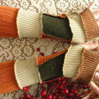 AUTUMN recycled sweater arm warmers