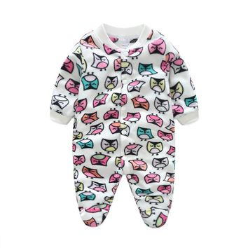 Newborn Baby Rompers Boy Girl Footed Rompers Animal Romper Long Sleeve Fleece Sleep Clothes Pajamas Summer Baby Romper Product