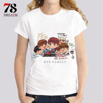 2017 t-shirt BTS kpop v suga jung kook jimin jin jhope k-pop female t shirt Streetwear High quality women tops tees