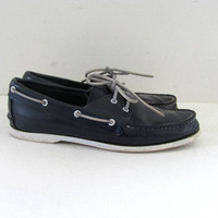 Vintage Blue Boat Shoes Loafers / Deck Shoes / Moccasins