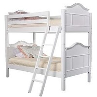 Emma Twin Bunk Bed, White