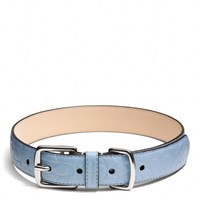 SIGNATURE EMBOSSED LEATHER COLLAR