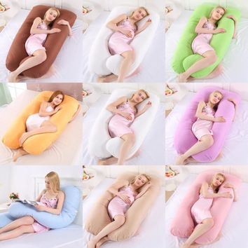 Sleeping Support Pillow For Pregnant Women Body PW11 100% Cotton Pillowcase U Shape Maternity Pillows Pregnancy Side Sleepers