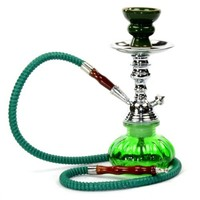 Glass Hookah Shisha Nargila + Tongs + All Rubber Garments. Comes Ready to Use!