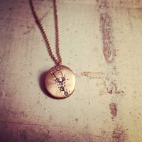 Hand Made TAURUS Zodiac Sign Constellation Necklace GOLD Taurus Constellation necklace Taurus Star Sign Charm Zodiac Charm Small Charm  N083