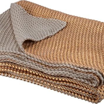 Copper Throw in Cotton and Soft Metallic