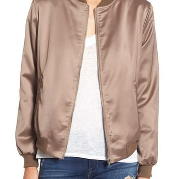 Missguided Satin Bomber Jacket | Nordstrom