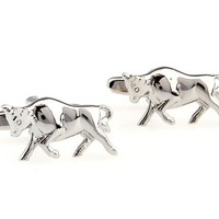 Bull Cufflinks Animal Cowboy Business Shirt Wedding Rodeo Gift