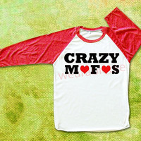 Crazy Mofos TShirt Naill Horan TShirts One Direction TShirts Raglan Shirts Baseball Tee Unisex TShirts Women TShirts Men TShirts Red Sleeve