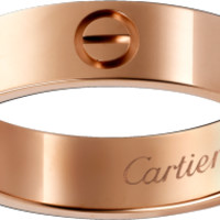LOVE ring: LOVE ring, 18K pink gold.