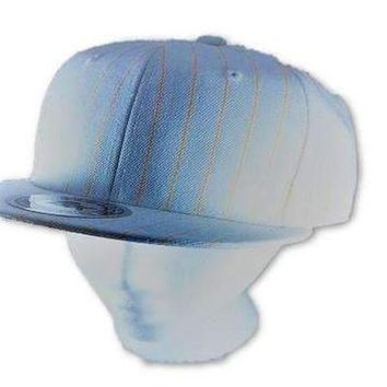 Baseball Pinstrip Flat bill Hat