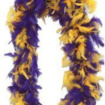 Purple/ Gold Feather Boa
