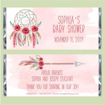 Boho Baby Shower Candy Bar Wrappers