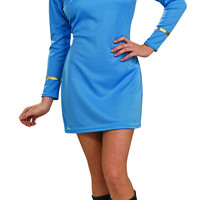 Womens Star Trek Deluxe Science Uniform Costume