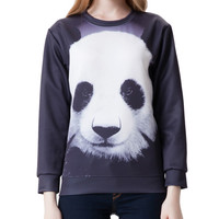 Panda Print Long Sleeve Sweatshirt