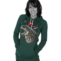 FACE YOUR FEARS HOODIE DRESS - WOMEN'S HOODIE DRESS / FOREST / ONE SIZE FITS ALL