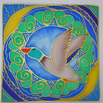 "mandala art,"" The Duck"", animal guides, shamanic art, pagan, new age, metaphysical, duck art, meditation art, spiritual art ,"