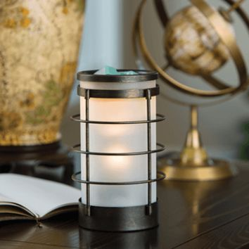 Coastal Metal and Glass Fragrance Candle Warmer
