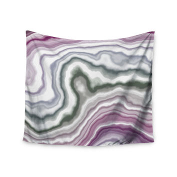 "KESS Original ""Wild Boysenberry"" Geological Purple Wall Tapestry"